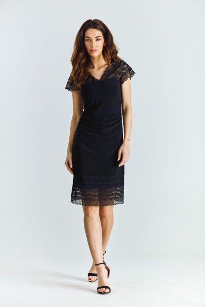 Dámské šaty s krajkou černé