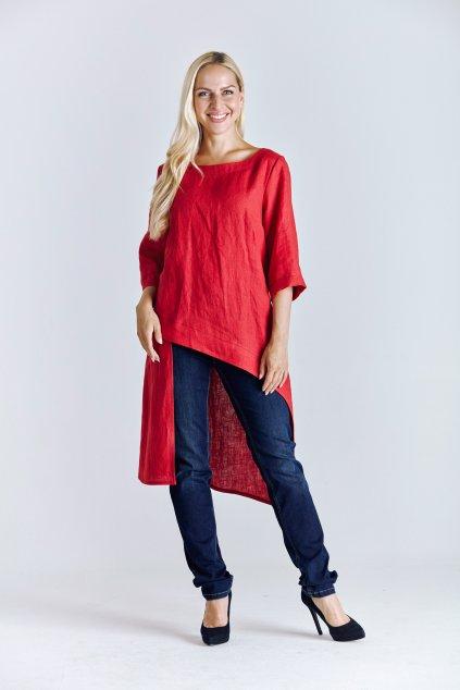 lněná dámská tunika dlouhá