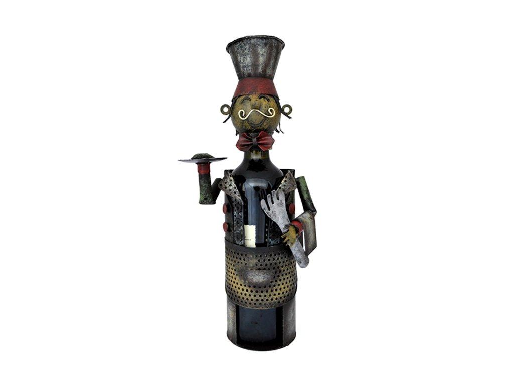 Kovový stojan na víno cisnik