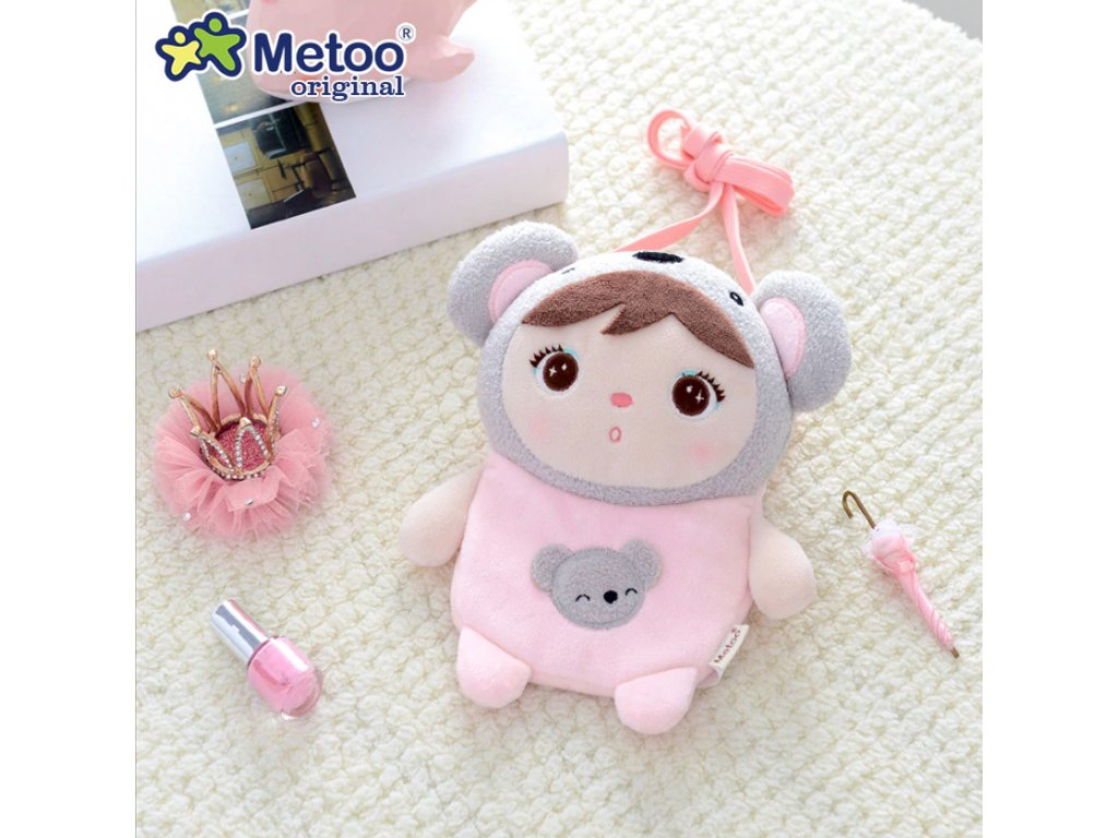 Batoh kabelka metoo mini Panda Plush Backpack Metoo Doll Plush Toys For Girls Baby Soft Cartoon Stuffed Animals For Kids Children