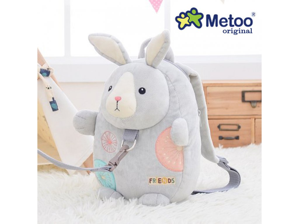 me too bunny backpack reins safety harness toddler bag cartoon gray rabbit baby leashes shoulder bags with anti lost