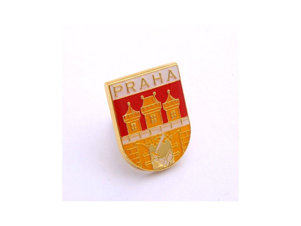 Znak hlavního města Prahy-český lev-státní symbol České republiky-ČESKA REPUBLIKA-ČESKY ODZNAK-PINS CZECH REPUBLIC-Státní symbol ČR