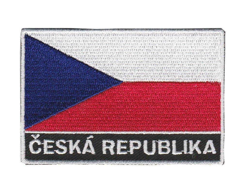 Nášivka vlajka + ČR + Ceska republika + vlajka