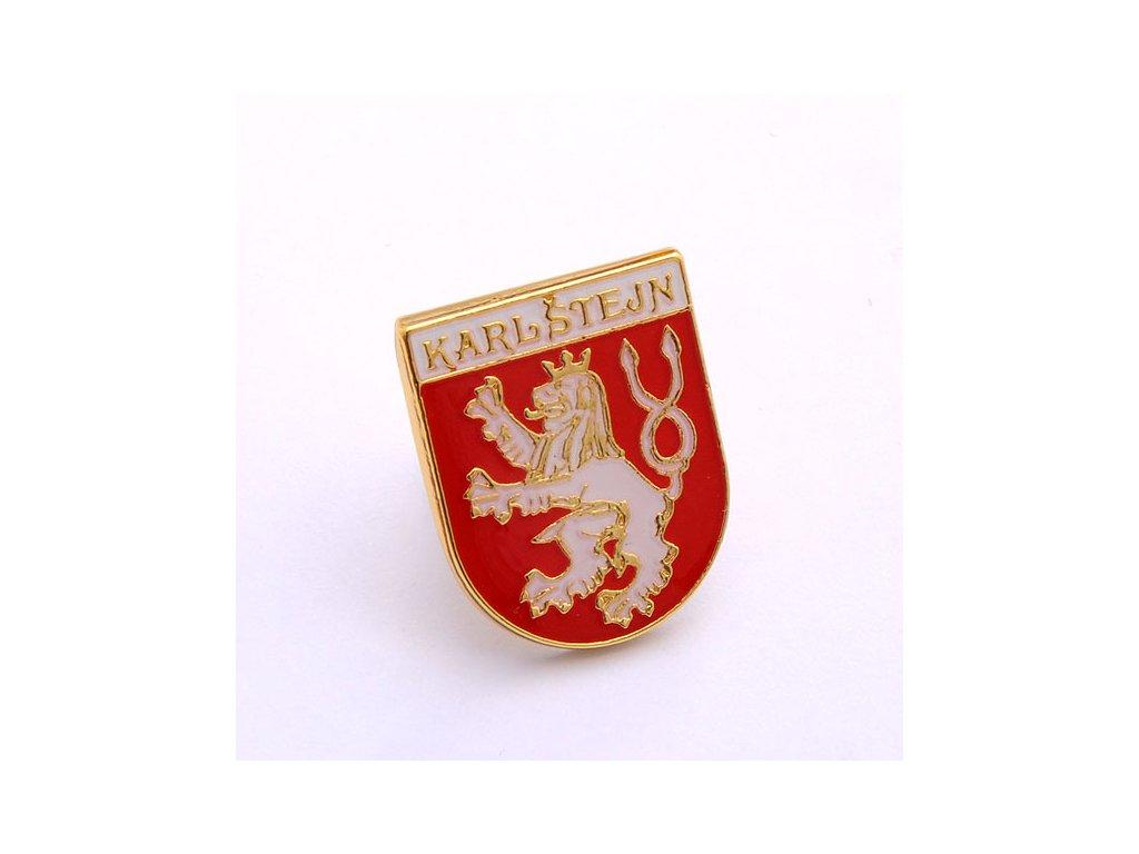 Odznak KARLOVY VARY-Odznak-ČESKA REPUBLIKA-ČESKY ODZNAK-PINS CZECH REPUBLIC-Státní symbol ČR-ERB KARLŠTEJN