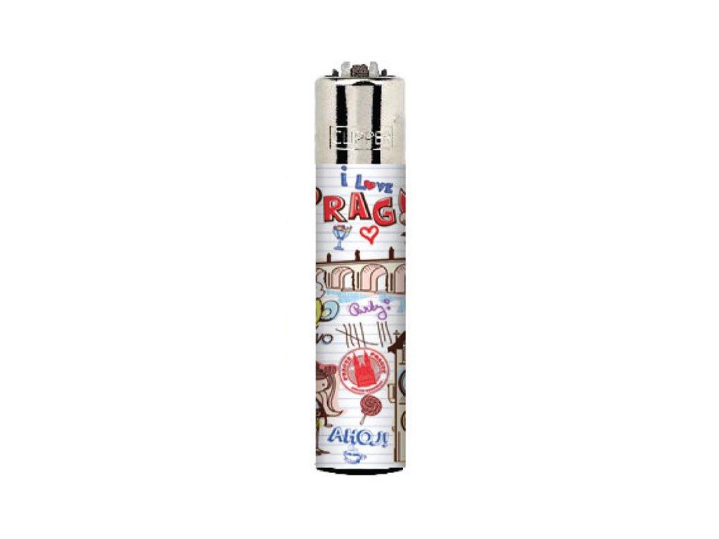 Zapalovač clipper s motivem PRAHA