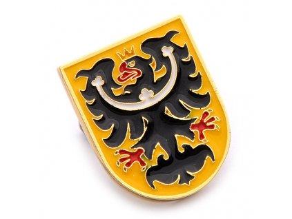 Odznak Slezsko – znak Slezska, slezská orlice.ČESKA REPUBLIKA-ČESKY ODZNAK-PINS CZECH REPUBLIC-Státní symbol ČR