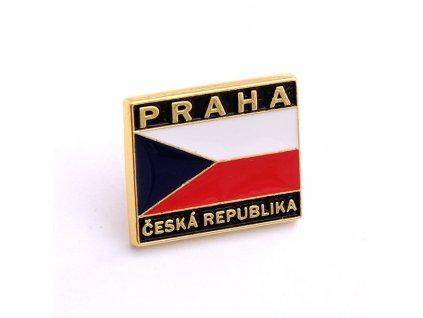 Odznak s Českou vlajkou-ČESKA REPUBLIKA-ČESKY ODZNAK-PINS CZECH REPUBLIC-Státní symbol ČR-PRAHA ČESKÁ REPUBLIKA
