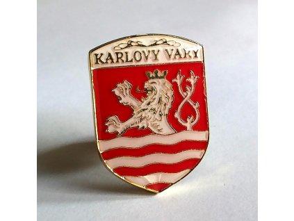 Odznak KARLOVY VARY-Odznak-ČESKA REPUBLIKA-ČESKY ODZNAK-PINS CZECH REPUBLIC-Státní symbol ČR-ERB KARLOVY VARY
