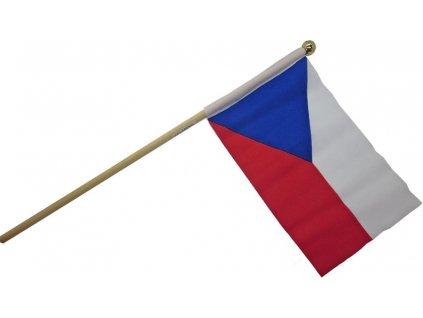 Česká vlajka mávací