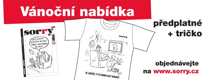 Vánoční akce: předplatné a tričko