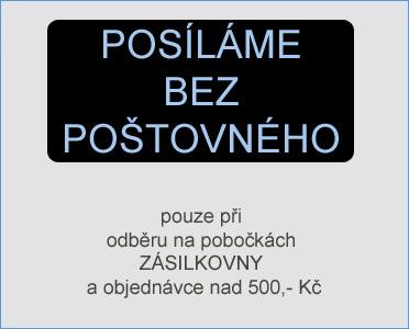 poštovné zdarma při odběru na Zásilkovně a objednávce nad 500,- Kč