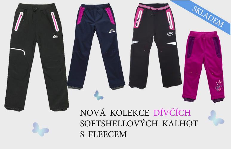 Nová kolekce dívčích softshellových kalhot s fleecem