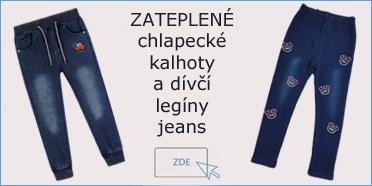 chlapecké jeans kalhoty