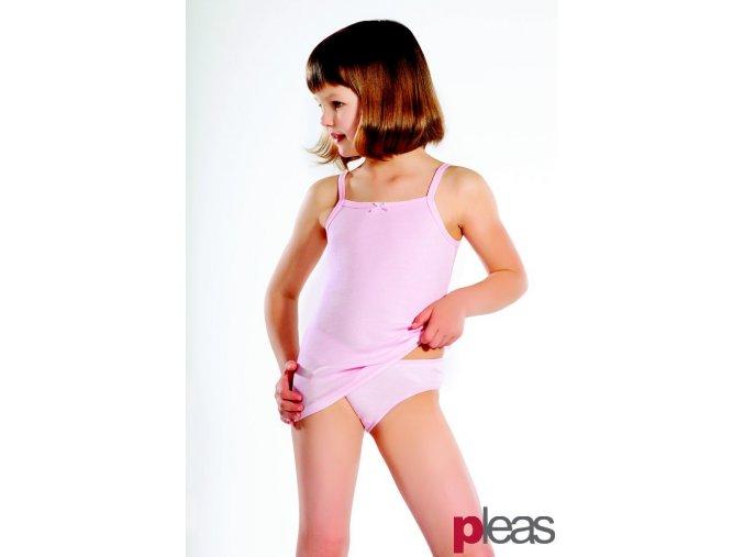 PLEAS dívčí košilka 128158 růžová