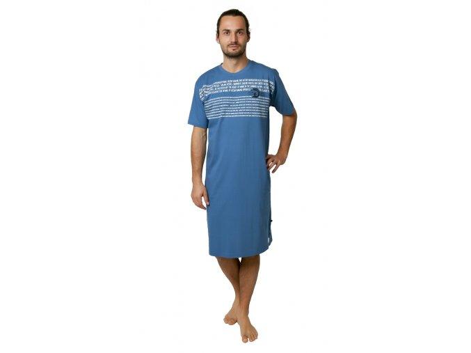 CALVI pánská noční košile 19-071 tmavě modrá