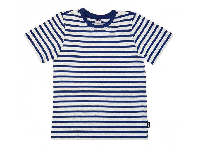 PLEAS dětské bavlněné tričko 165482 modrá-melír
