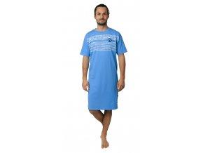 CALVI pánská noční košile 19-071 světle modrá