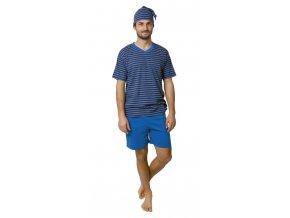 CALVI pánské pyžamo krátké 19-081 modrá