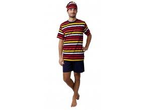 CALVI pánské pyžamo krátké 19-094 pruhy, N