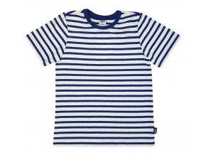 PLEAS dětské bavlněné tričko 165482 modrá-melír, N