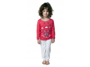 CALVI dívčí pyžamo dlouhé 19-077 růžová