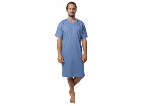 CALVI pánská noční košile 19-528 světle modrá