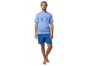 CALVI pánské pyžamo krátké 19-533 modrá