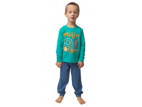 CALVI chlapecké pyžamo 20-119 zelená
