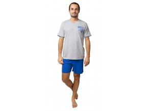 CALVI pánské pyžamo krátké 20-131 šedý melír