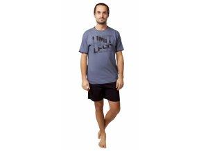 CALVI pánské pyžamo krátké 20-128 šedá