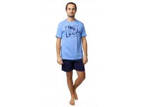 CALVI pánské pyžamo krátké 20-128 modrá