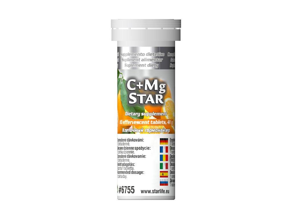 C+Mg STAR, 10 tbl - vitamin C, hořčík