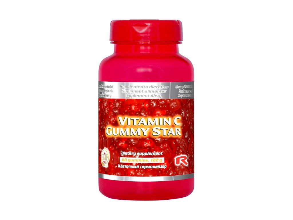 VITAMIN C GUMMY STAR, 60 pcs - vitamin C – obranyschopnost organismu