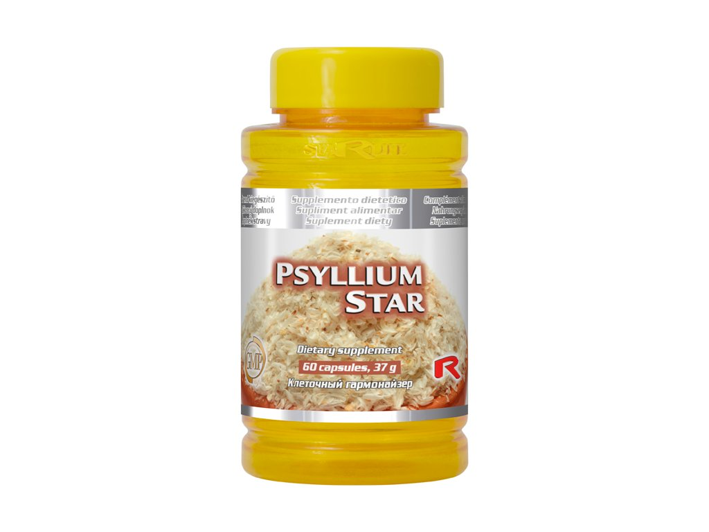 PSYLLIUM STAR, 60 cps - jitrocel blešník – zdravé trávení