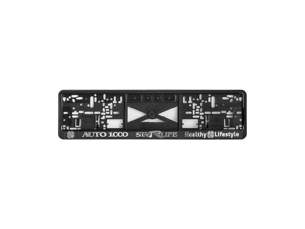 Licence plate holder AUTO 1.000, silver, 1 pcs - Podložka pod poznávací značku - stříbrná s obrysem