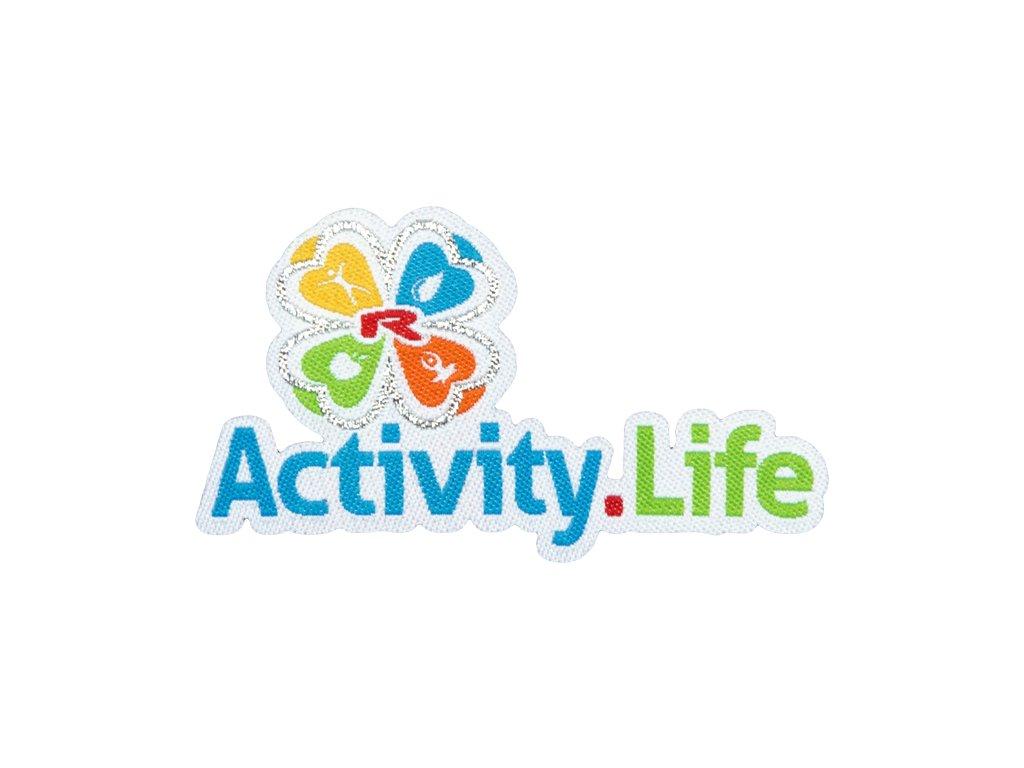 Nažehlovací logo Activity.Life 75mm, 1 pcs -