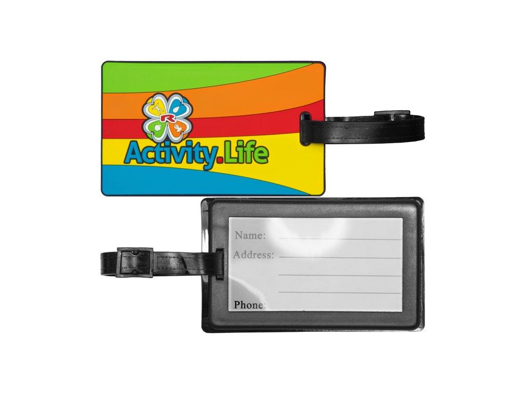 Jmenovka na zavazadlo soft PVC 3D 108×65 mm, 1 pcs -