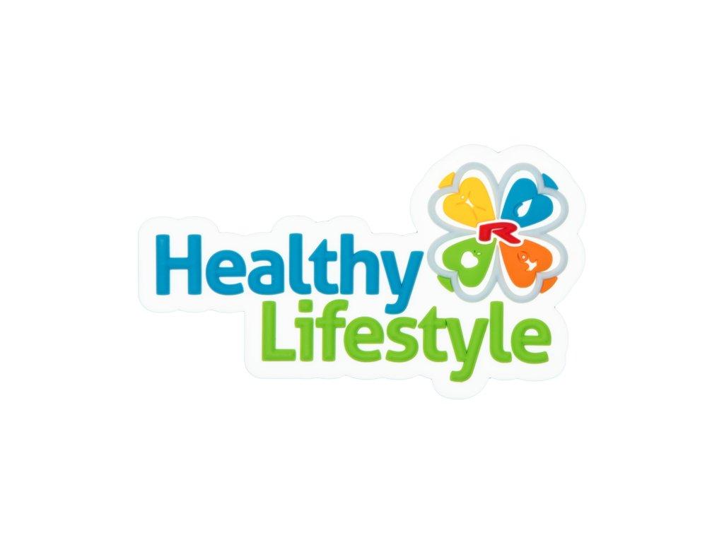Magnetické logo 3D Healthy Lifestyle 80×46 mm, 1 pcs -