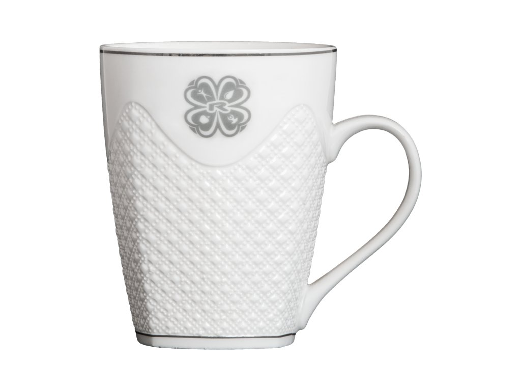 CUP, 450 ml, WHITE CERAMIC, 1 pcs -