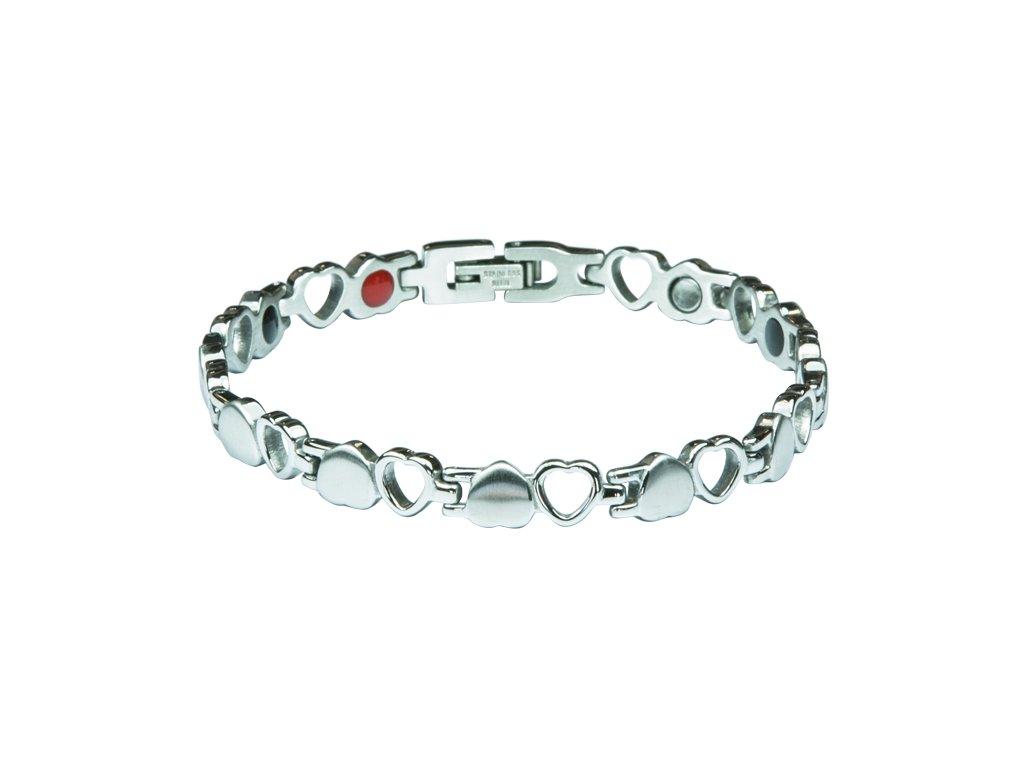 Bracelet BARBARA silver, 1 pcs - Elegantní magnetický náramek