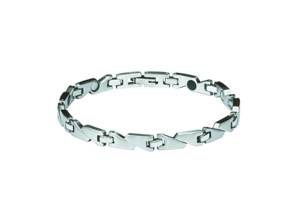 Bracelet RACHEL silver, 1 pcs - Elegantní magnetický náramek