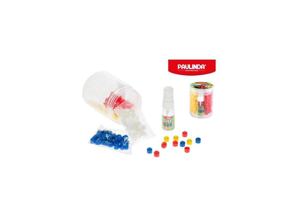 paulinda super beads jumbo 10x8cm 4barvy 210ks s doplnky v doze
