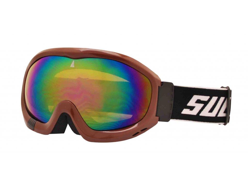 Brýle sjezdové SULOV FREE, dvojsklo, hnědé