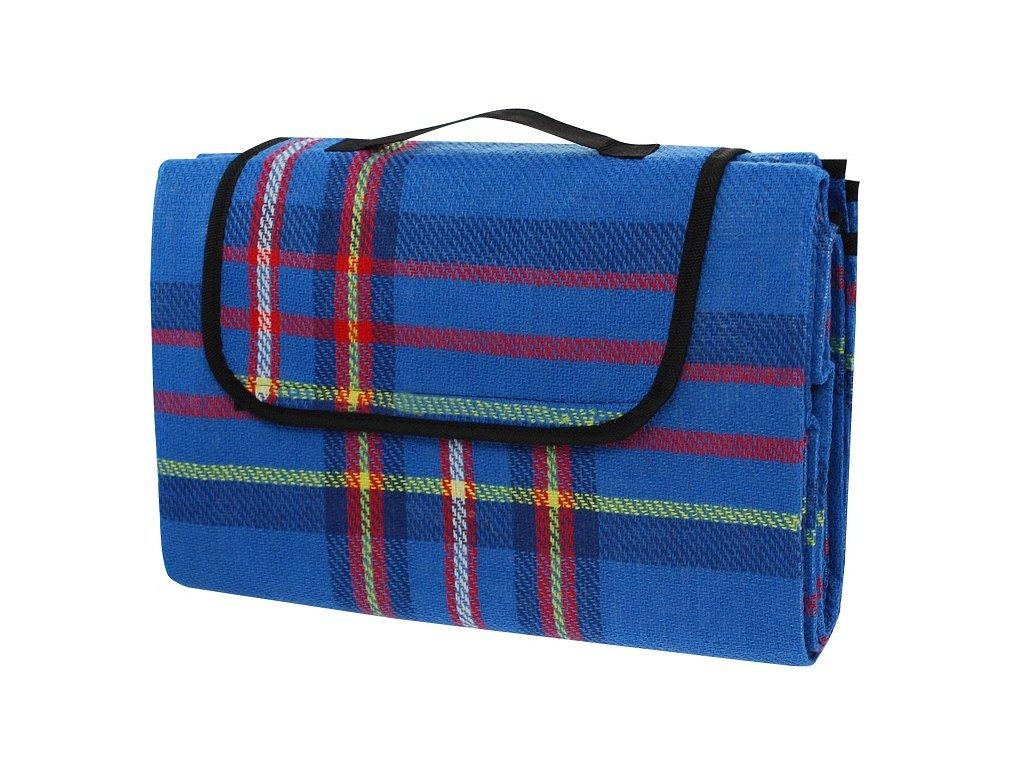 Pikniková deka CALTER ONE, 150x130 cm, modrá kostka