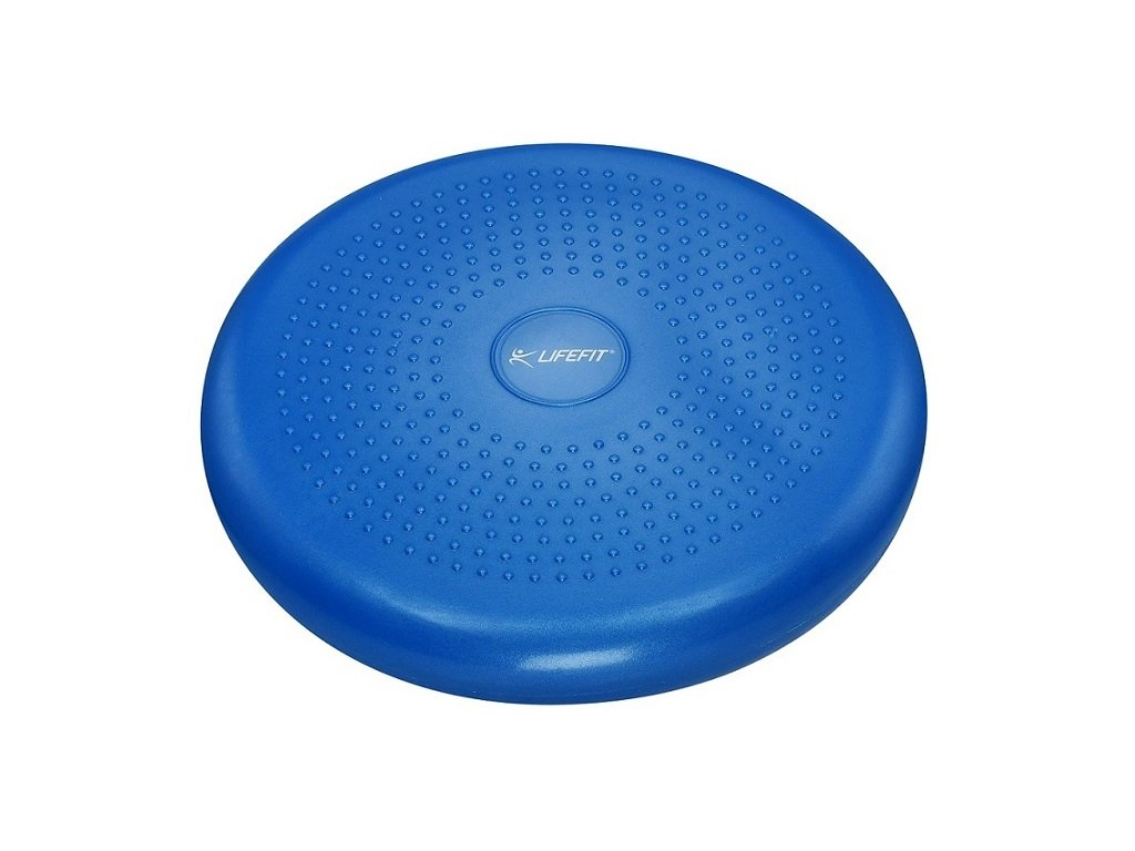 Balanční masážní polštářek LIFEFIT BALANCE CUSHION 33cm, modrý