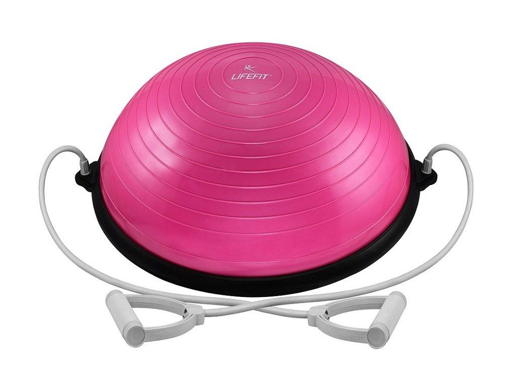 Balanční podložka LIFEFIT BALANCE BALL 58cm, růžová