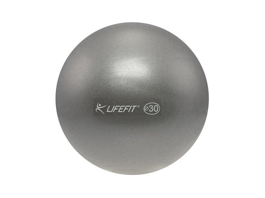 Míč OVERBALL LIFEFIT 30cm, stříbrný