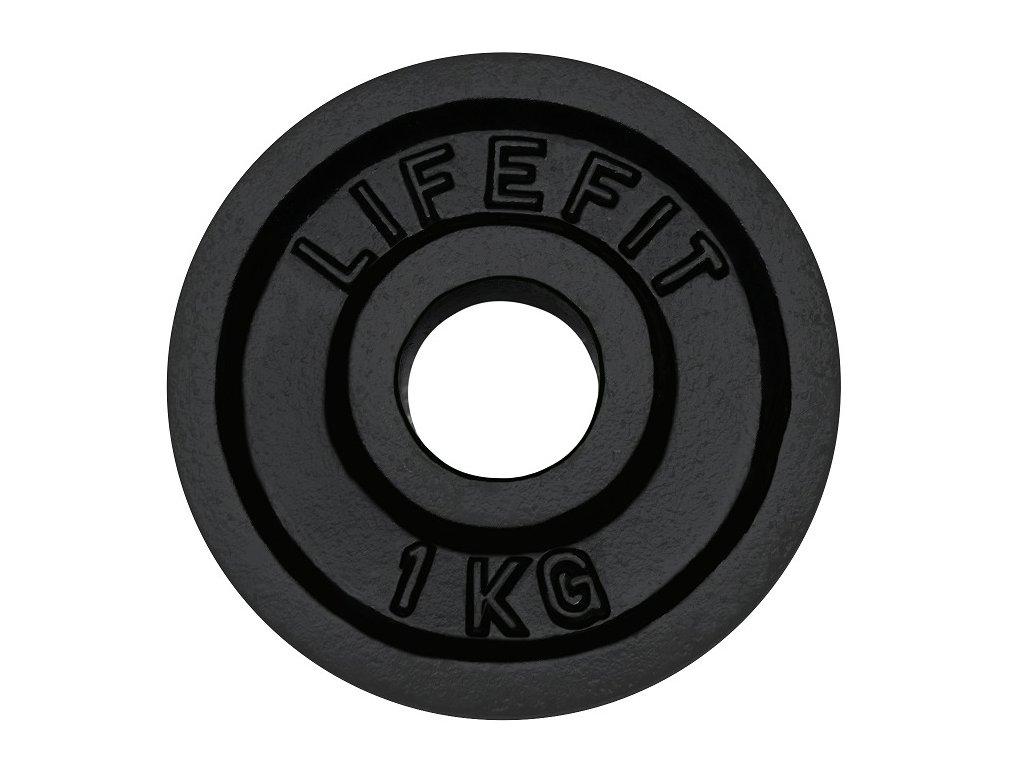 Kotouč LIFEFIT 1,0kg, kovový, pro 30mm tyč