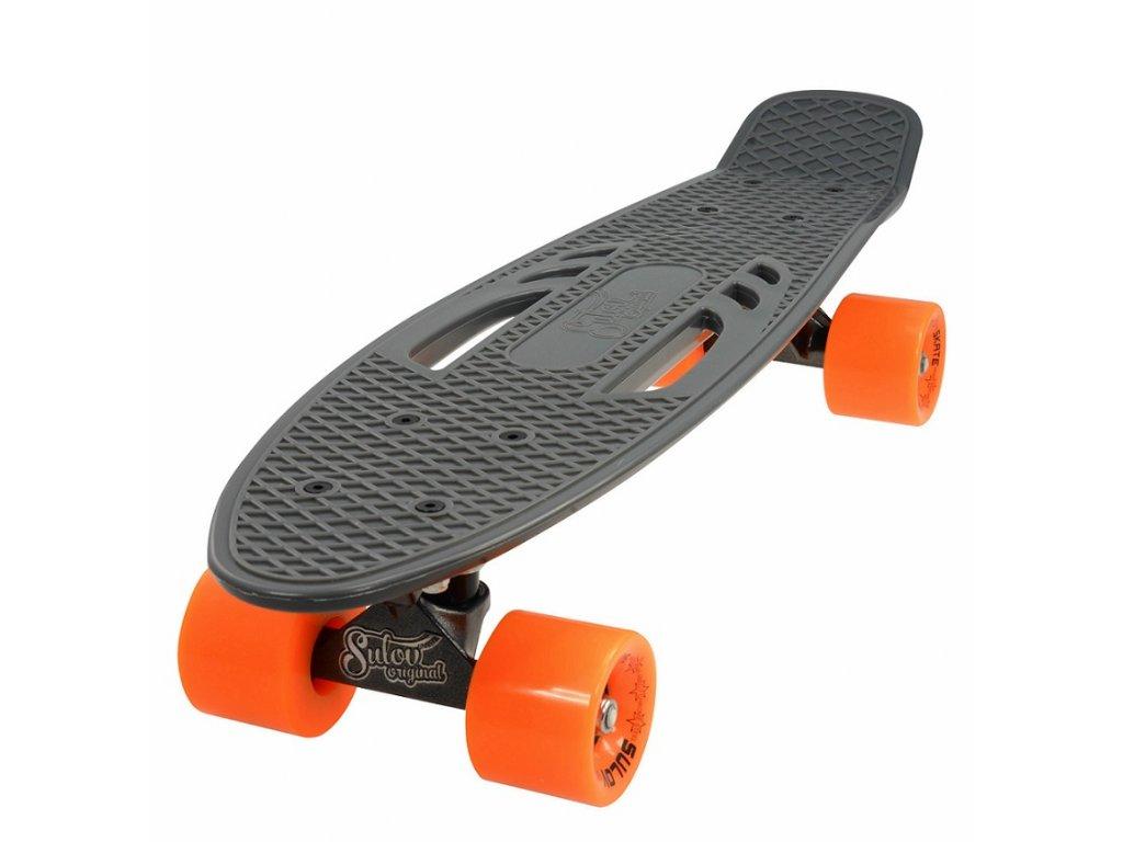 "Penny board 22"" CITY šedo-oranžový"