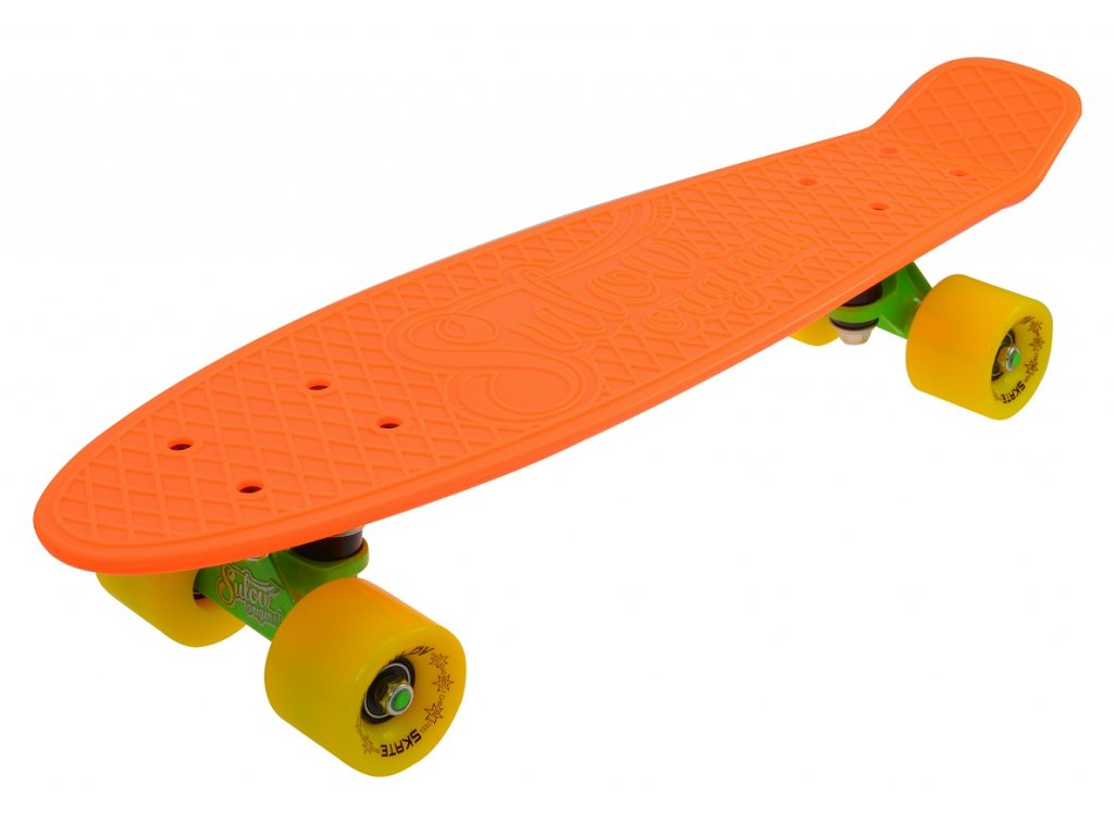 """Penny board 22"""" SULOV NEON SPEEDWAY oranžovo-žlutý"""